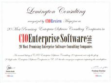 CIO Review's Award to Lemington Consulting